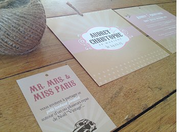 faire,part,mariage,theme,paris,vintage,kraft