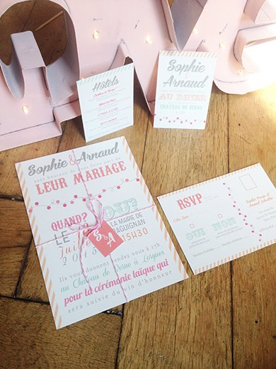 Populaire faire part mariage gourmandise | Sweet Paper LY75