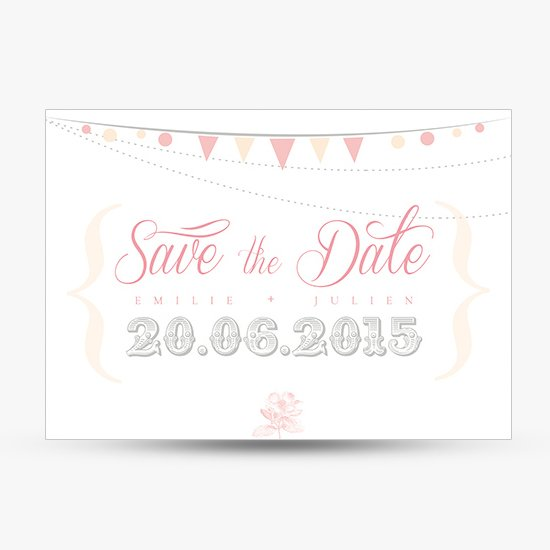 save the date mini fanions romantique retro sweet paper. Black Bedroom Furniture Sets. Home Design Ideas