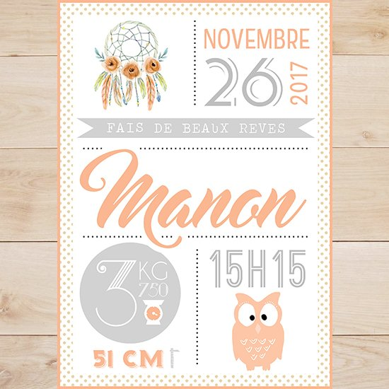 affiche statistique cadeau naissance b b my lovely badge. Black Bedroom Furniture Sets. Home Design Ideas