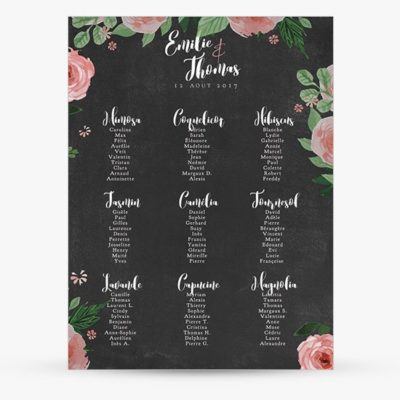 Grand plan table Mariage ardoise chalkboard | Sweet Paper