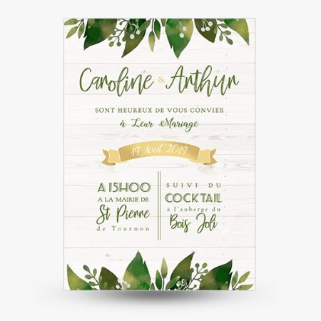faire-part-mariage-greenery-vert-foret-naturel-vegetal-feuillage-or
