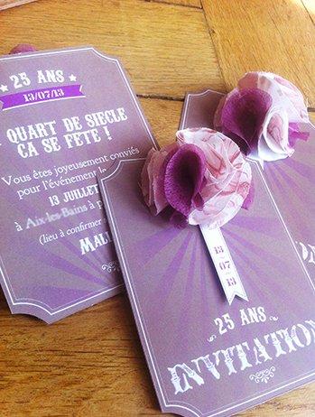 invitation anniversaire vintage pour 25 ans