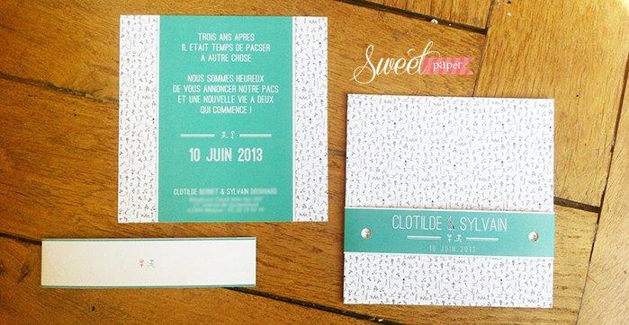faire-part-pacs-mariage-mint-turquoise-doodle-moderne-original