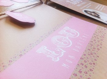 fairepart-naissance-papier-kraft-liberty-rose