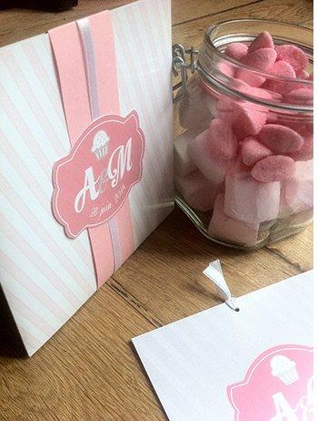 fairepart-maraige-pochette-rose-bonbon-fraise-tagada