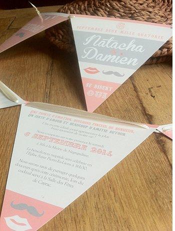 fairepart-mariage-format-fanion-sweet-paper-vintage