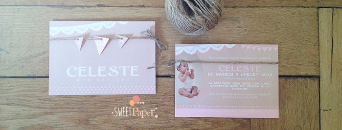 faire-part-bapteme-kraft-rose-vintage-fanion-cordelette