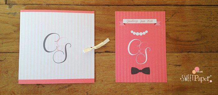 faire-part-mariage-classique-classe-rose-ivoire-rayures