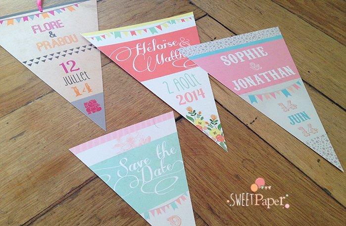 faire-part-mariage-naissance-fanions-retro-vintage-colore-fleur