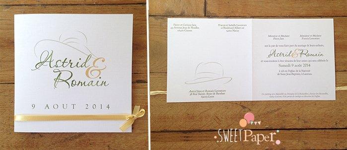 faire-part-mariage-or-vert-olive-theme-chapeaux