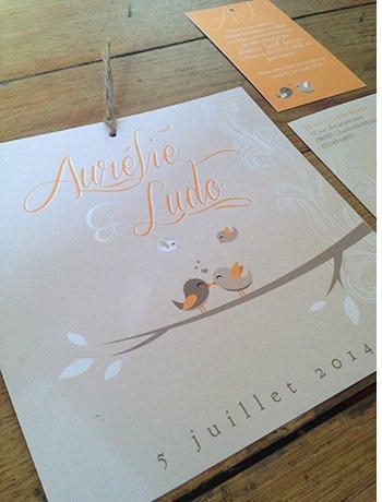 faire-part-mariage-retro-theme-oiseaux-bapteme-orange-beige