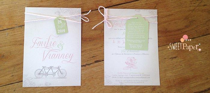 faire-part-mariage-tandem-vintage-baker-twine-rose