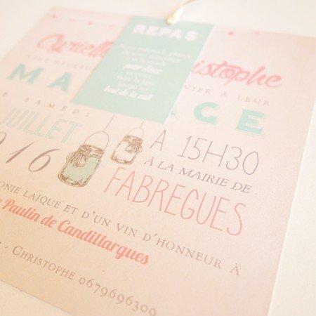 faire-part-mariage-mason-jar-retro-vintage-mint-corail-bocaux