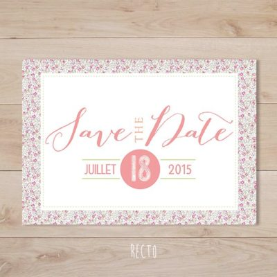 save the date mariage liberty eloise rose retro