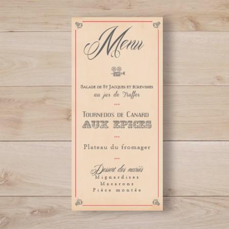 Populaire Faire part mariage vintage retro wood bois | Sweet Paper CM68