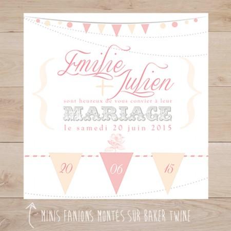 Extrêmement Faire-part de Mariage | Sweet Paper VK97