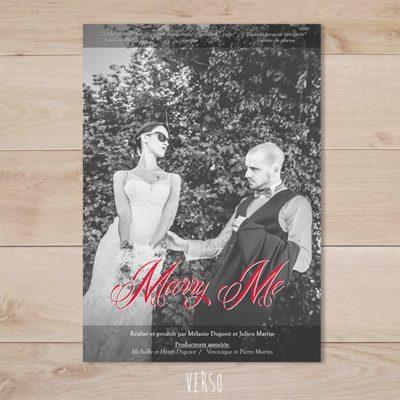 Faire part mariage affiche de cinema