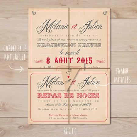 Favori Faire-part de Mariage | Sweet Paper VK33