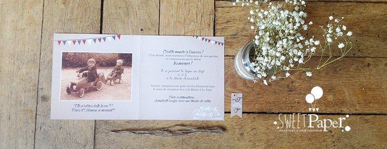 28-fairepart-mariage-vintage-kraft-tandem-fanion