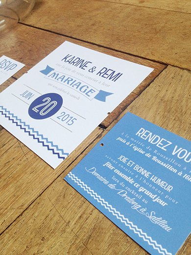 29-fairepart-mariage-retro-plusieurs-cartons-bleu-blanc