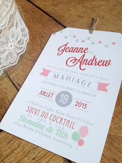 Relativ faire part mariage original | Sweet Paper QJ25