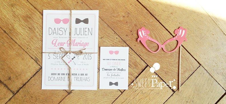4-fairepart-mariage-retro-americain-rose-noir-blanc