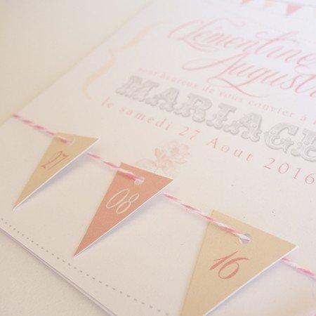 faire-part-mariage-retro-romanitque-guirlande-mini-fanions-rose-blanc-bakert-twine