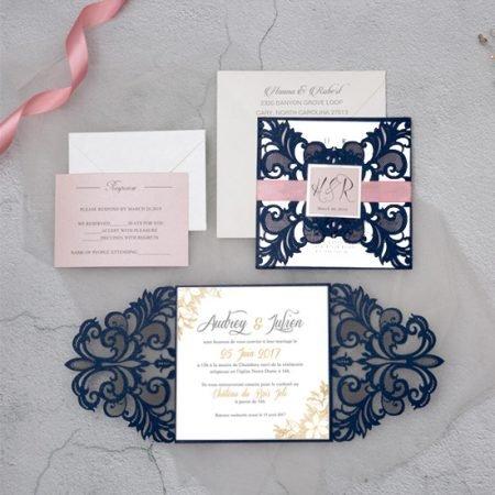 faire-part-mariage-cisele-sur-mesure-decoupe-laser-cut-dentelle-bleu-marine-rose-dore