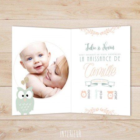faire-part-naissance-bapteme-hiboux-mint-retro-pastel-couronne-fleur-ballons-dores