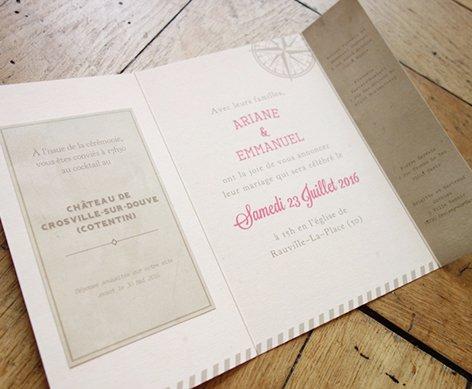 fairepart-mariage-voyage-kraft-retro-vintage-mappemonde-carte-monde-travel