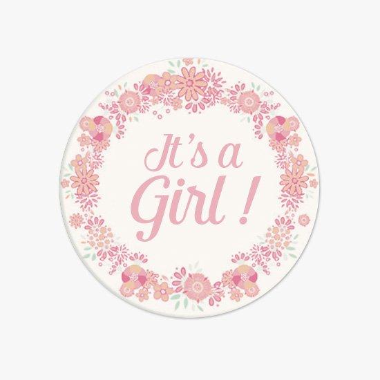 Badge Baptême Naissance It S A Girl
