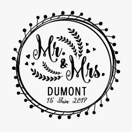 tampon-mariage-personnalise-sur-mesure-champetre-mr-mrs-couronne-fleurs