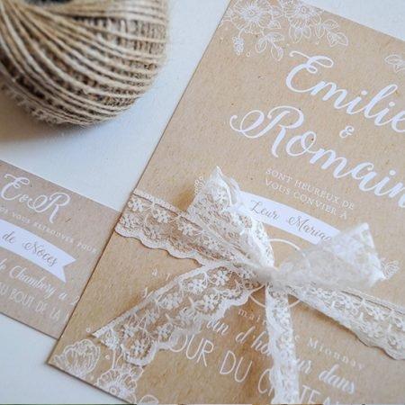 faire-part-mariage-sur-mesure-personnalise-chambery-creatrice-champetre-kraft-rustique-dentelle-petite-fleurs-des-champs-boheme-nature-campagne