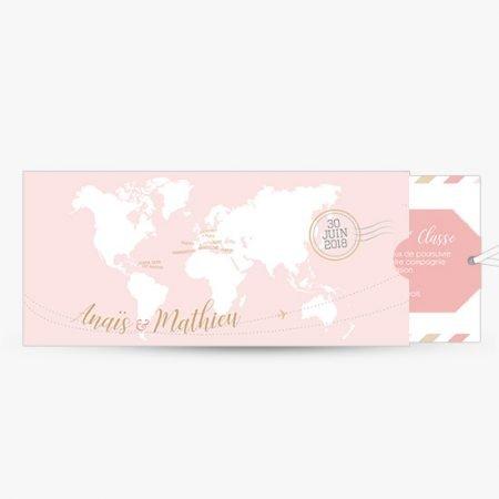 faire-part-mariage-carte-embarquement-billet-avion-voyage-rose-or-pastel-retro-romantique-pochette