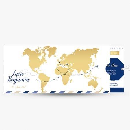 faire-part-mariage-pochette-carte-embarquement-voyage-billet-avion-travel-passeport-romantique-dore-bleu