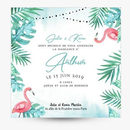 faire-part-naissance-bapteme-tropical-flamant-rose-exotique-mint-vert-rose-festif-guirlande