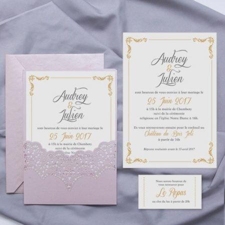 faire-part-mariage-cisele-decoupe-laser-cut-dentelle-rose-poudre-romantique-napperon