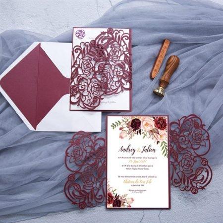 faire-part-mariage-pochette-cisele-decoupe-laser-cut-elegant-glamour-chic-fleurs-roses-bordeaux-lie-de-vin-burgundy-floral-WPL0177