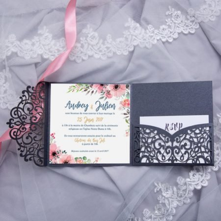 faire-part-mariage-pochette-cisele-decoupe-laser-cut-elegant-glamour-chic-gris-anthracite-rose-bleu-fleurs-aquarelle-WPFC2125