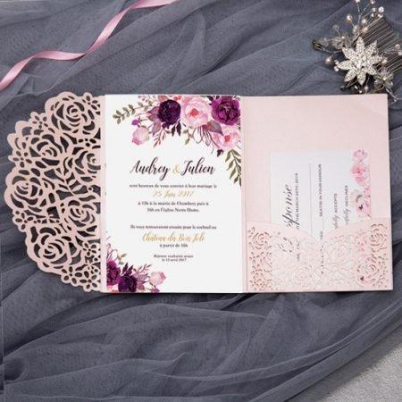 faire-part-mariage-pochette-cisele-decoupe-laser-cut-elegant-glamour-chic-rose-poudre-argent-paillette-glitter-pocketfold-pockart-WPFC2122