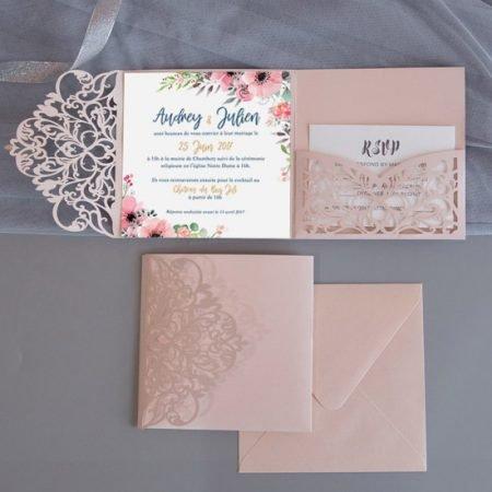 faire-part-mariage-pochette-cisele-decoupe-laser-cut-elegant-glamour-chic-rouse-poudre-argent-princesse