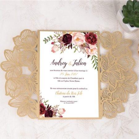 faire-part-mariage-pochette-cisele-decoupe-laser-cut-fleurs-or-dore-chic-champetre