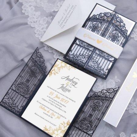 faire-part-mariage-pochette-cisele-decoupe-laser-cut-princesse-porte-chateau-oriental-glitter-bleu-nuit-or-WPL0172